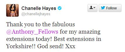 Chanelle Hayes on Twitter